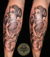 Chicana Devil tattoo by 2Face-Tattoo