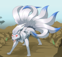 No escape - Shiny Ninetales by Kuramuri