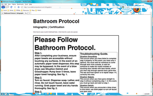 Bathroom Protocol Website by MegaJohnnyLeft