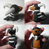 Day 11- Houndoom Jizo by ChibiSilverWings