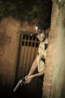 Rick Grimes in reconnaissance by Cospi92