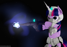 Armored Pony Project - Unicorn Twilight [U] by boyindahaus