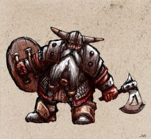 Dwarf Warrior by CapnEctoplasm