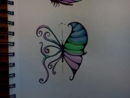 another butterfly tattoo concept by Samaelt666