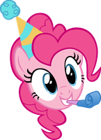 Pinkie Party Head by M99moron