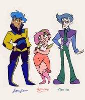 Steven Universe: Morganite, Florite, and Lapis by kbird1994