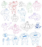 Sketch Dump on DA - Round 3. by Atariboy2600