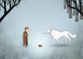 Brendan and the White Wolf by Limeknight