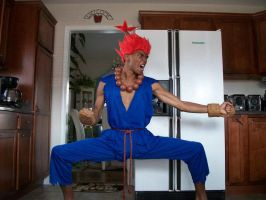 Street Fighter's Akuma posing in the Kitchen! by KillaIntent