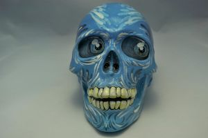 Realistic Light Blue Skull! by CandyCherep