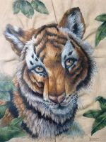 Embroidery of a Tiger by yurionna