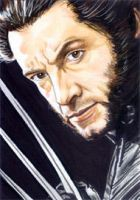 X-Men - Wolverine Sketch Card by veripwolf
