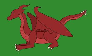 Red Dragon by LittleWolfDreamer