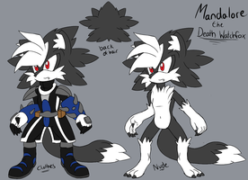 Mandalore the Death WatchFox ref sheet by shadyever
