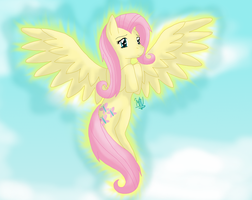 Take To The Sky, Fluttershy by MidnightTheUmbreon