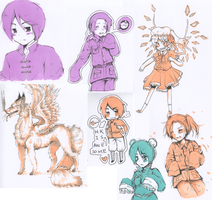 Marker and Ink Doodle Dump by miri-kun