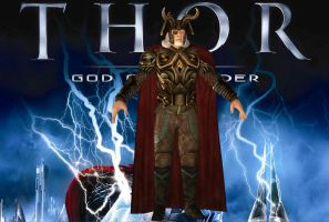 THOR GOD OF THUNDER: ODIN ORIGINAL BONES PS3 VERS by Oo-FiL-oO