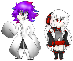 Psycho and Tei Chibis by Jocelynshi