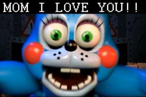 Toy Bonnie loves his mom, Jeremy. by ThatNerdNamedLaura