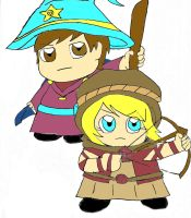 grand Wizard Cartman and Holy Defender Liza by sweetgirl-Liza