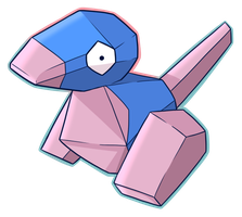 137: Porygon by CollectionOfWhiskers