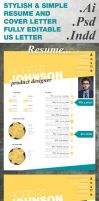 Stylish Resume Template by duemilacentododici