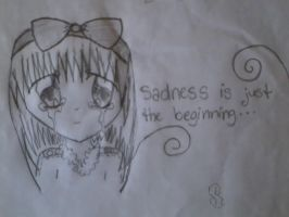 Sad Anime Girl by iFluffy-Pants