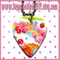 Kawaii Guitar Pick Necklace by SugarAndSpiceDIY