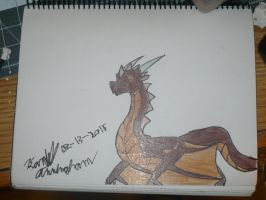 Dellson's wyvern form by Dell-AD-productions