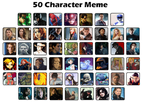 50 Character Meme by Greedlin by GreedLin