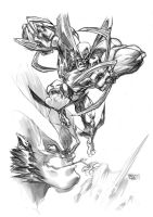 Wolverine pencils by MarioPons