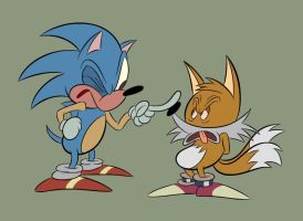 Sonic und Tails by LooneyLion