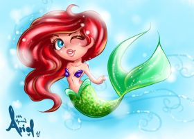 Mermaid Ariel chibi shine by JamilSC11