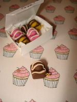 Fondant Fancy Charms by geurge