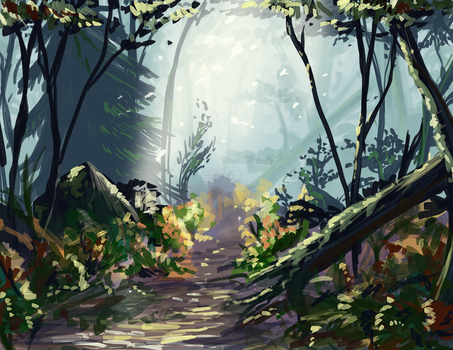 Forest speed paint by Venomouswolf