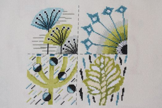 Contemporary flowers, World of Cross Stitching 215 by StitchingDreams