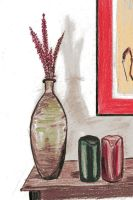 Vase and Candles by Dvorty