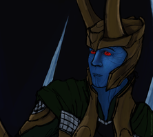 Loki's nightmare close up by GoreChick