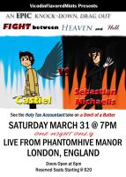 Castiel vs Sebastian Match Poster by VicodinFlavoredMints
