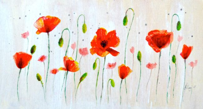 Coquelicots 01 by Stephanie-HY