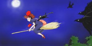KiKi is in a rush by ILIKEHUGSS