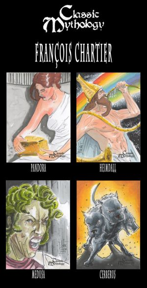 Classic Mythology Sketch cards