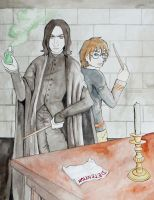 Snape and Harry by Burning--Ice