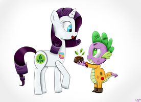 (GIFT) S-pike and Rarity by RaissaSpina
