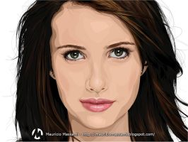 Contest Vector Emma Roberts by MauricioMassami
