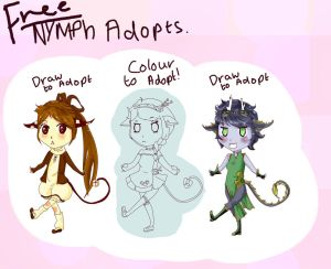 FREE Nymph adopts! DrawColour to adopt OPEN!