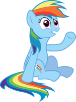 Rainbow Dash - Ehh? WTF! by MrCabezon