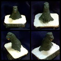 My Godzilla bust sculpt WIP 6 The water elements by IggySeymour