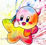 Rainbow Kirby by ShadowPhoenixRisen