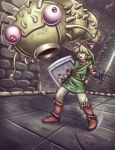 Zelda - Link and Moldorm fight by Karosu-Maker